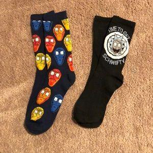NWOT Rick and Morty Socks